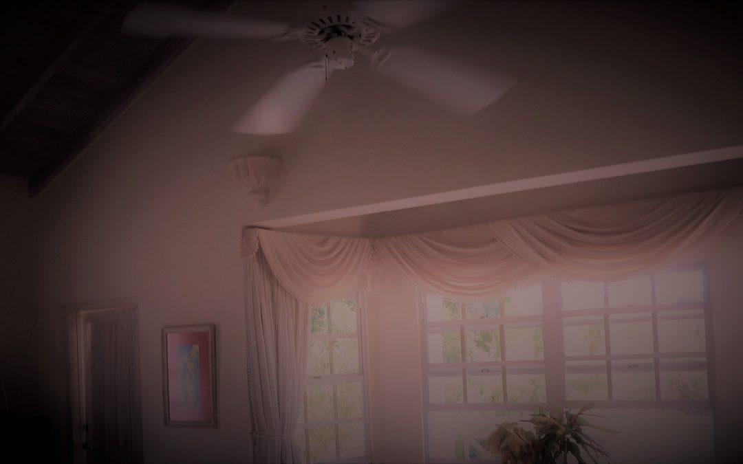 Unter dem Ventilator